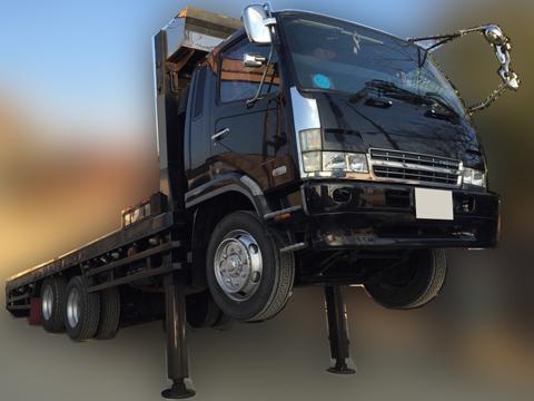 平成16年 増t(増トン) ファイター セルフローダー 車検付き 増11.3トン積載 2デフ フルワイド ウインチ 270馬力 ベッド付き