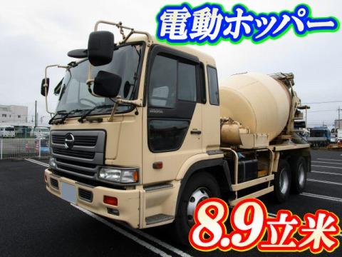 平成15年 大型 プロフィア ミキサー車 8.9立米 電動ホッパー